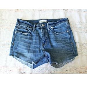 "Madewell 9"" High Riser Cutoff Denim Jean Shorts"